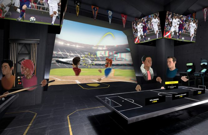 Entain pioneers VR 'multi-sports club' experience